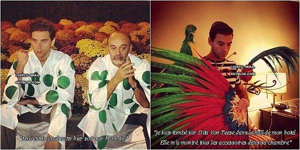 Voici deux nouvelles photos que Mika a publié sur Instagram.