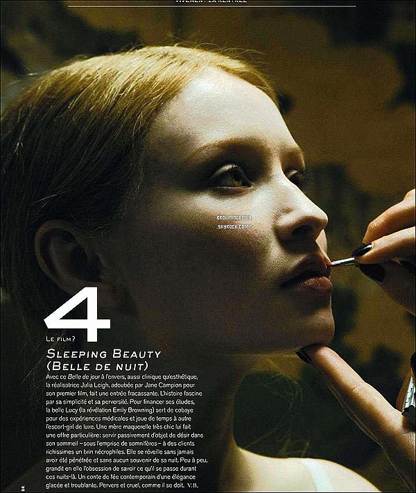 Emily apparait dans le numéro de Juillet-Août prochain du magazine français « Jalouse » .