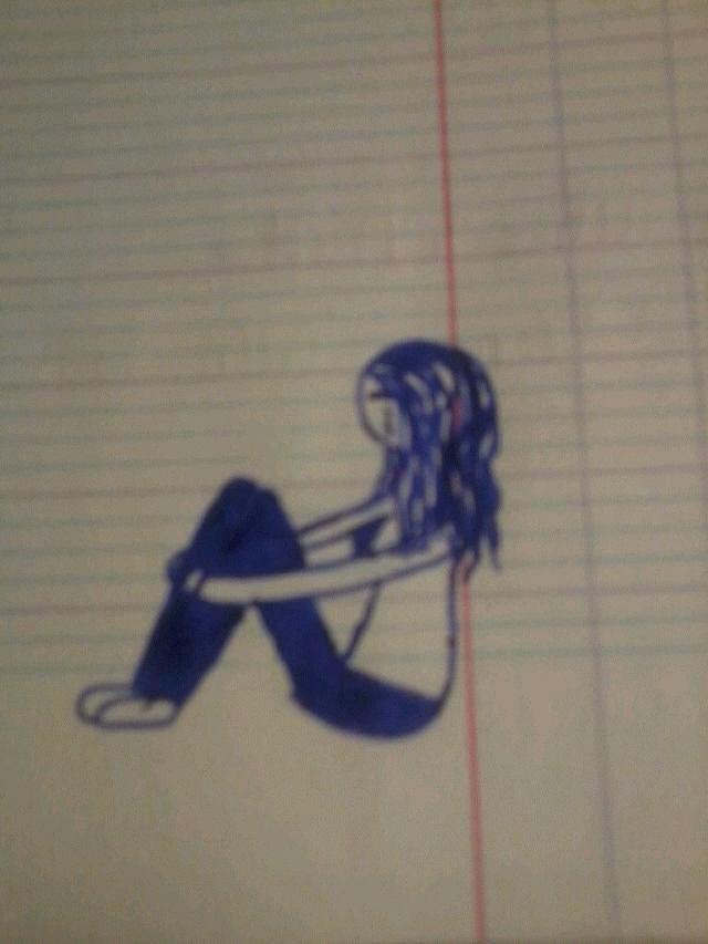 juste quand tou va male je dessine