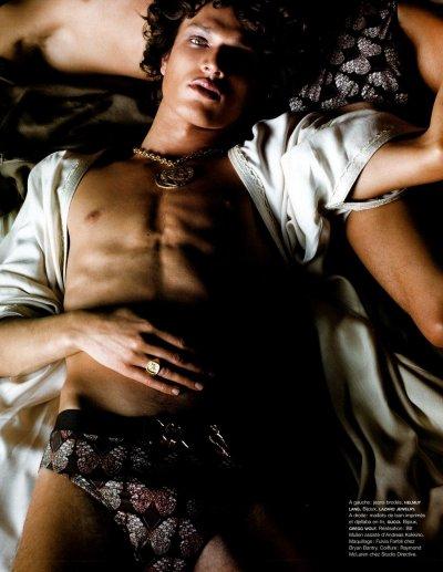 photographer: Greg Kadel stylist: Bill Mullen MODEL(S): Fu'ad Ait Aattou; Louis Prades