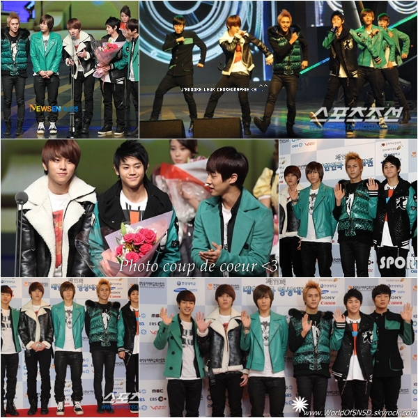 """-  _________ Le 1er decembre, nos BEAST étaient présents au """"11th Korea Visual Arts Festival"""" où ils ont remportés le  """"Photo  _________-genic Award"""" pour les chanteurs ! Je suis très fière d'eux et ils le meritent emplement ^.^ ! I'M SO IN LOVE !  -"""