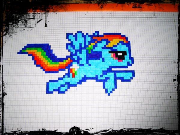 pixel art grand carreaux