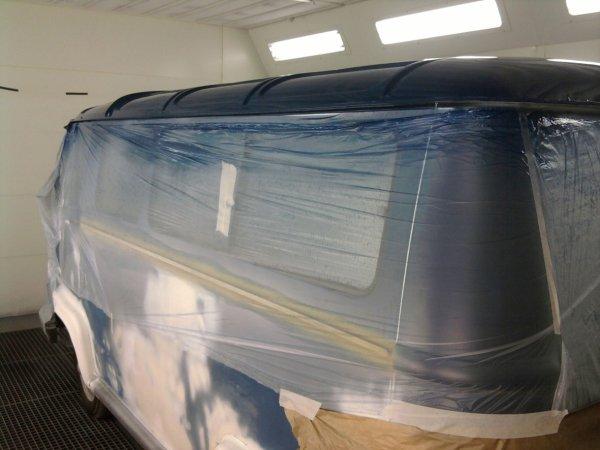 mise en peinture du toit