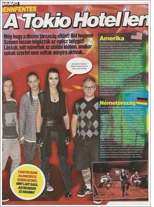 """""""Bravo"""" n° 16/2011 (Hongrie) - Tokio Hotel détruit le monde ! Traduction par Prinz16.skyrock.com"""