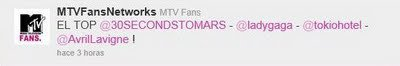 Twitter - MTVFansNeetworks (MTV Fans) : Le top des votes dans MTV Fans Music Awards _ Traduction de Christie (TH Maghreb)