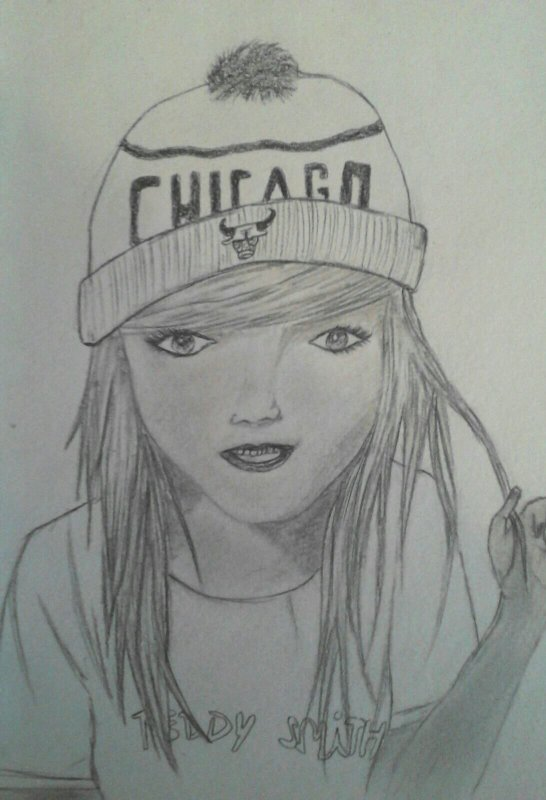 Dessin d'une fille swagg