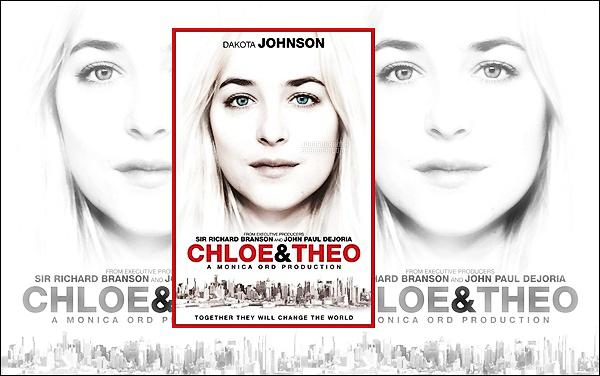 . Le poster officiel du prochain film de Dakota : Chloe & Theo vient enfin d'être dévoilé ! .