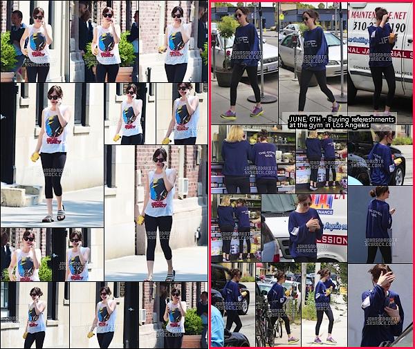 . 11.06.2015 : Dakota Johnson a été photographier en se  promenant dans les rues de New York   .