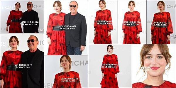 20/11/2015 :Dakota Johnson a assisté à l'ouverture de la boutique Michael Kors  à Ginza, Tokyo - Japon.. Il s'agit d'une boutique de la designer Karl Anderson Jr. Avec les vêtements pour femmes et accessoires tels sa succursale a ouvert  au Japon