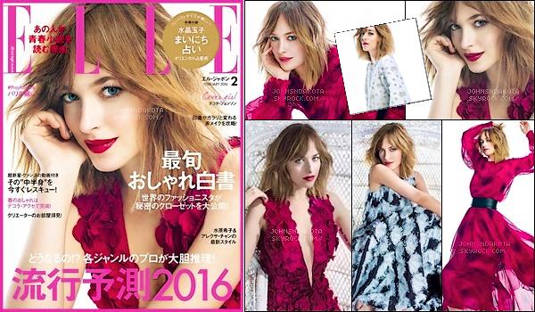 _MAGAZINE_•••_Dakota faisant la couverture de Elle Magazine, Japan l'édition de Janvier 2016. _