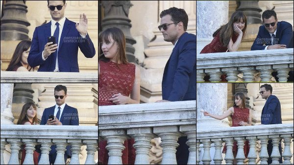 18/07/2016 : Dakota J. a été photographier en quittant l' hotel l'InterContinental Paris Le Grand à Paris. Apres avoir quitter son hôtel, Dakota rejoint Jamie sur le set pour le tournage à l'Opéra de Paris . Le tournage de la saga est presque fini.