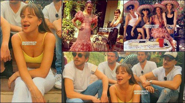 . 01/08/16 - Dakota Johnson a été photographier à l'anniversaire sa meilleur amie Emily qui s'est dérouler à Los Angeles.  On peut voir sur la vidéo que Dakota s'amuse et on lui souhaite a son amie un bonne anniversaire ! - côte tenue : tenue simple  .un top ou flop ?!! .