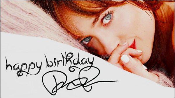 On this day very particular we wish a  Happy Birthday  to our beautiful - Dakota Johnson! La jeune femme vient de fêté ses 27 ans aujourd'hui même .La fille de Melanie Griffith et Don Johnson a beaucoup changée durant ces année.
