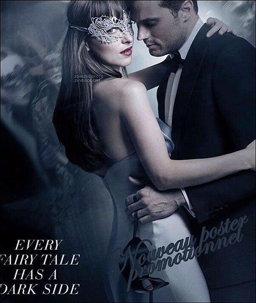 [font=]Dakota & Jamie sur un nouveau poster très sexy pour l'affiche officielle du film  Elle sera également disponible sur la couverture de littéraire lié au film . Cette édition sera disponible en pré-commande cette semaine.