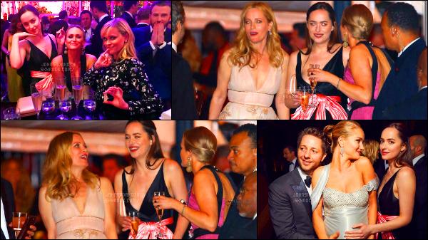 .26/02/17: Dakota a ensuite assisté à  l'After Party organisée par le magazine Vanity Fair à Los Angeles. Pour célébrer la fin de la saison des Oscars,  Dakota a changer de tenue , durant la soirée elle était avec son amie Emily . Qu'en pensez-vous ?   .