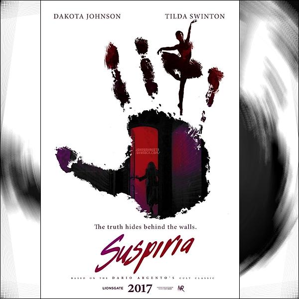 Découvrez enfin le tout premier poster du remake de « Suspiria » qui est prévu fin 2017 !
