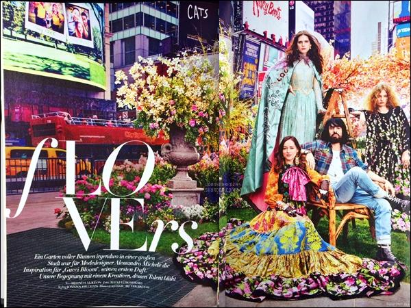 . MAGAZINE :   Découvre quelque scan du prochain numéro d'Harper's Bazaar allemand pour août 2017  .