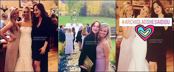 .  07.10.17 : Dakota était au mariage  de son amie Sarah à Woody Creek dans le Colorado. .