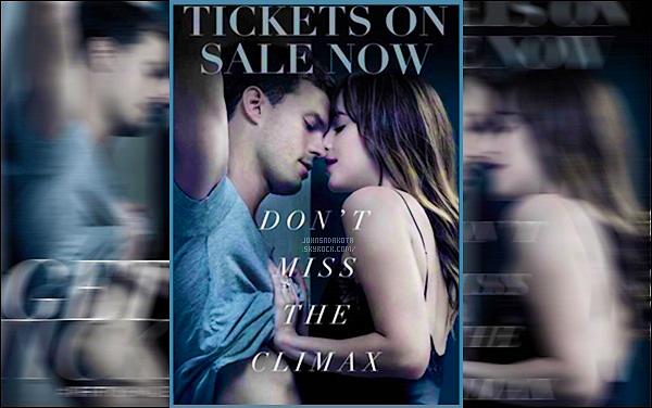 """.   Découvrez sans plus attendre un nouveau poster de Jamie et de Dakota pour  """" Fifty Shades Freed""""! ."""