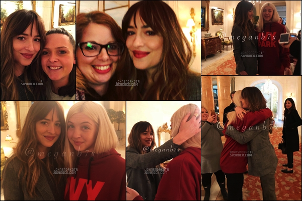 . ______●● ● ▬  February 6th, 2018 : Dakota and Fans in Paris, France● .