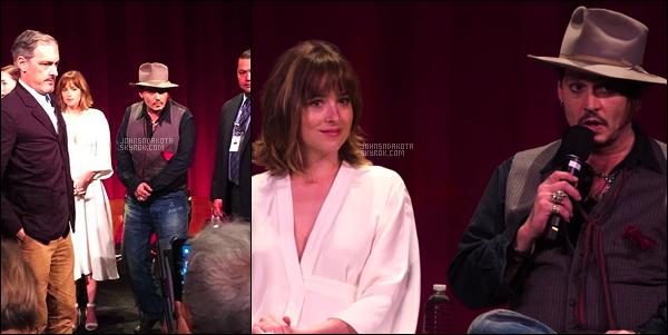 """. 19.09.15 : Dakota était présente au """"Black Mass"""" Academy Screening[/g ] en compagnie du cast du film à Los Angeles .. ."""