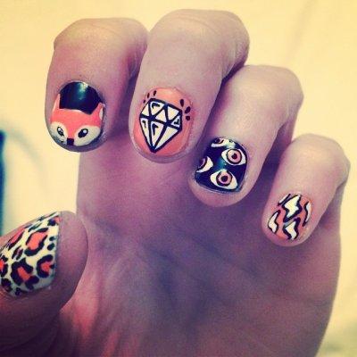 {Nail art n°1} Même nail art que Lodovica Comello