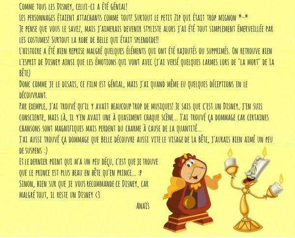[Revue n°6] La Belle et la Bête: on vous dit notre avis! byAnaïs&Sarah