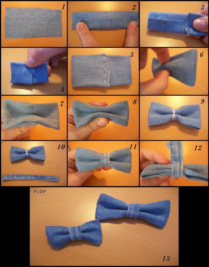 Le noeud en tissu/jean...