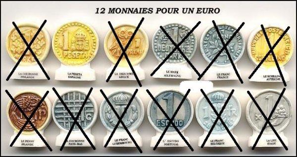 12 monnaies pour un euro