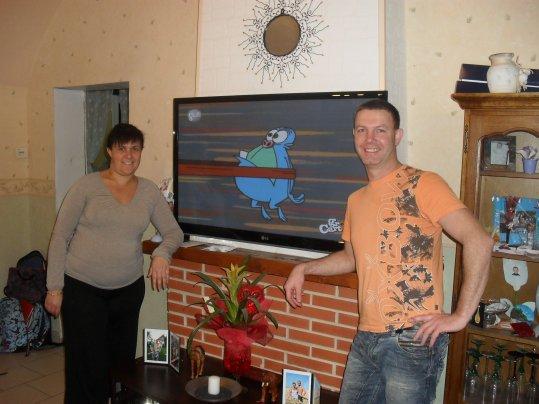 Fabienne and her husband OLIVIER... thank you Olivier