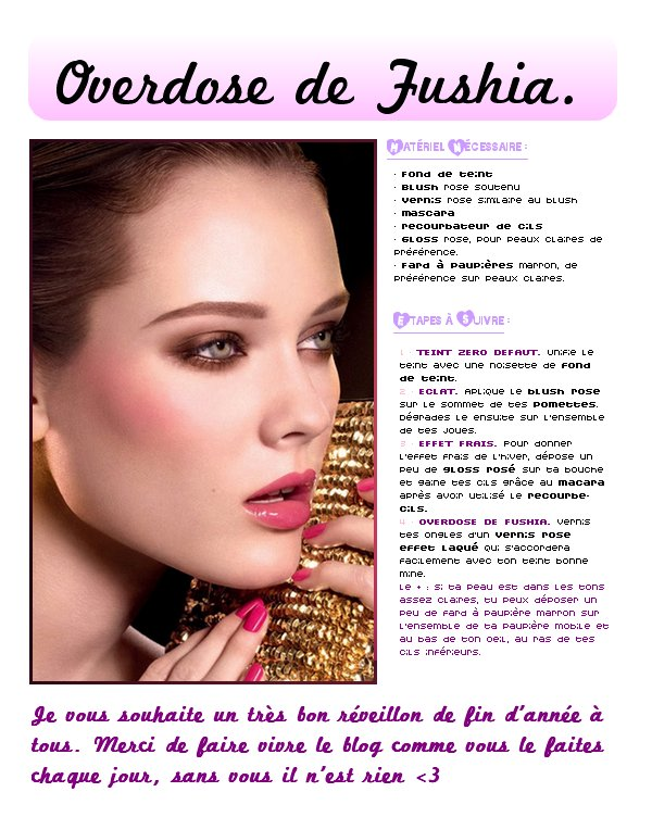 MAQUILLAGE HIVER - PRINTEMPS : Le fuschia.