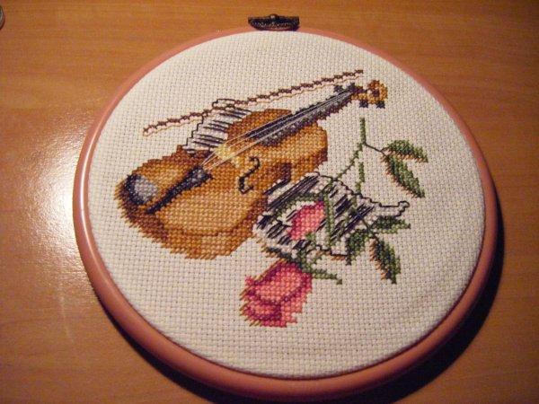 Le violon et ses roses !!