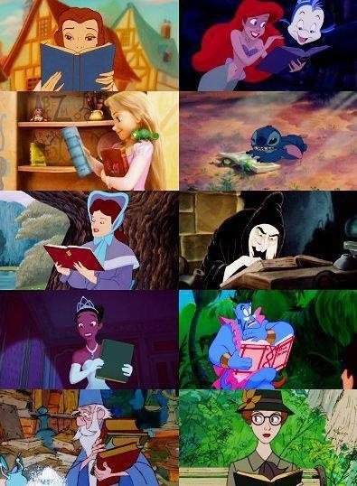 Les personnages disney et leurs livres