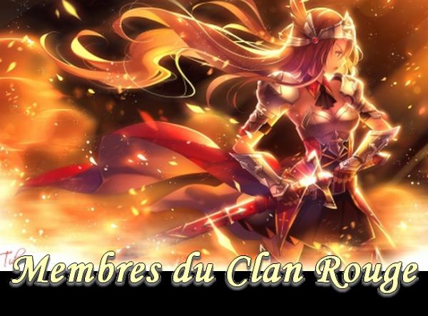 Membres clan rouge