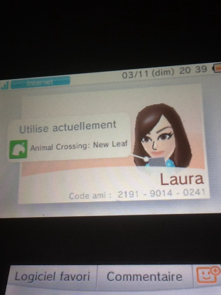 Mon code onirique animal crossing new leaf ♡♥+ mon code amie