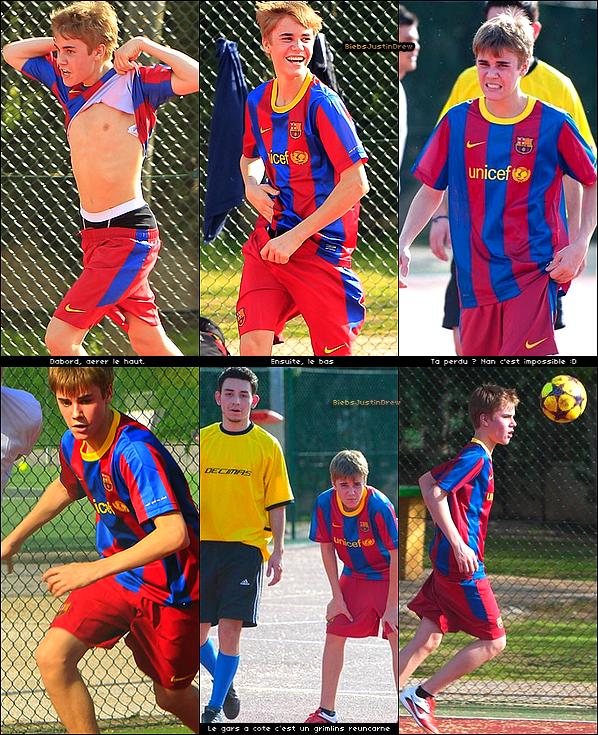 04.04.11 -  Justin était en Espagne; quelques clichés de Justin en pleine partie de Football x)!