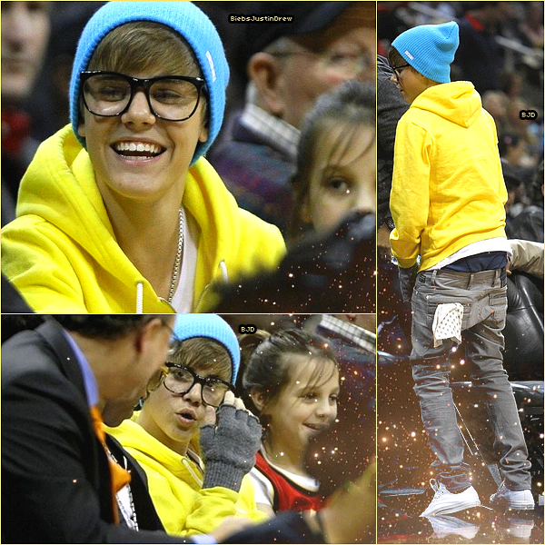 21/01/11 - Justin était à un match de basket avec LilTwist .  J'adore son nouveau style ;D