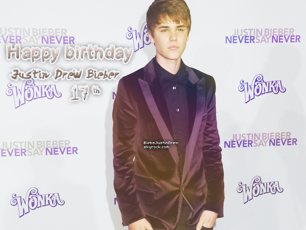 Happy Birthday 17th Justin Drew Bieber ;D