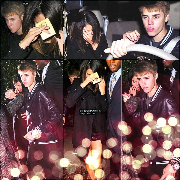 01.03.11 - Jelena sont aller fêter l'anniversaire de Justin dans un restaurant de Los Angeles.