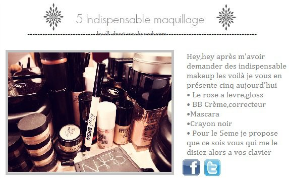 Indispensable maquillage
