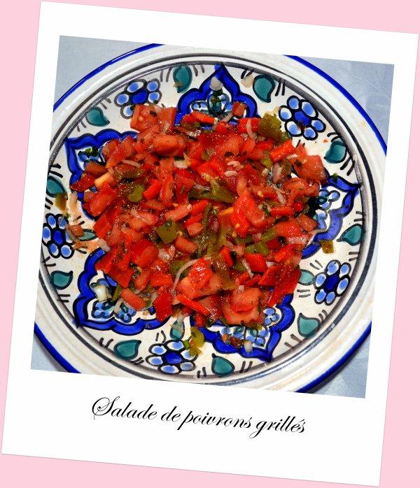 Salade de poivrons grill s recette marocaine passion - Salade de poivrons grilles ...