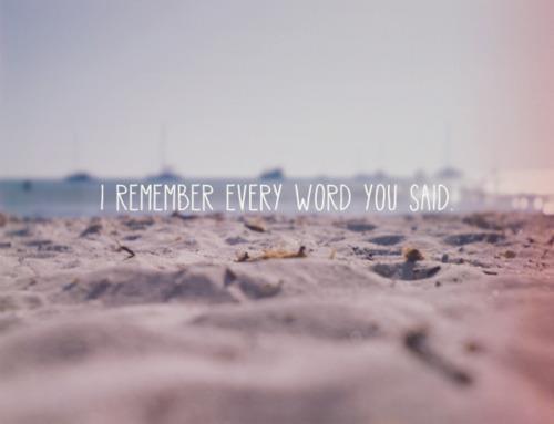 ~ I promise