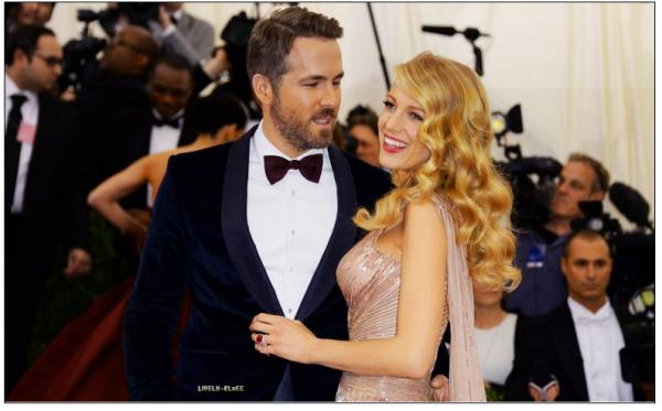 • 6 mai 2014 :  Blake Lively et Ryan Reynolds amoureux : Premier red carpet des jeunes mariés.