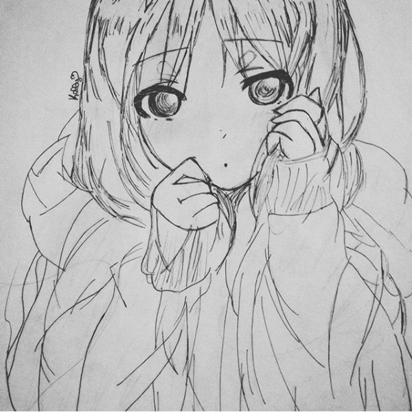 Drawing 1: Fille Timide (#^.^#)
