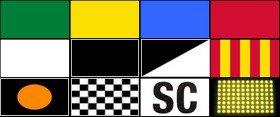 Drapeaux en F1 & Somaire saisons F1 2002 à 2018