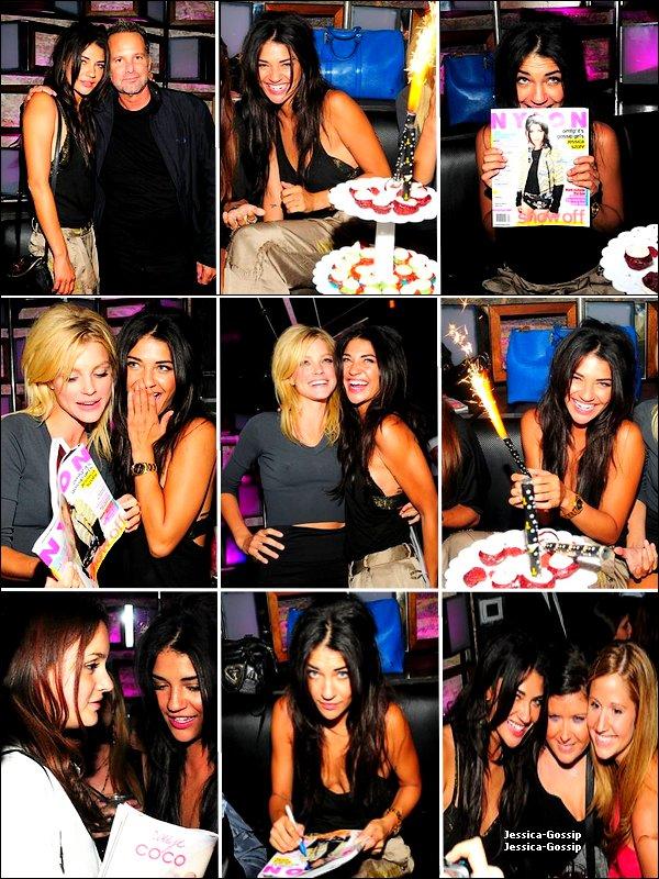 Actu  *  31/08/10 __ Jessica, en compagnie de Leighton et Ed (qu'on ne voit sur aucune de ces photos) célébrant sa couverture pour le magazine Nylon :) *