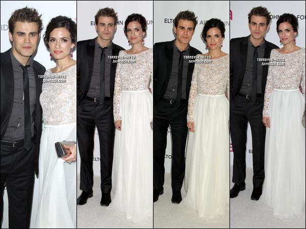 .  26.02.2012 : Torrey était présente à la Viewing Party organisée par Elton John pour The Academy Awards avec son mari Paul Wesley.    .