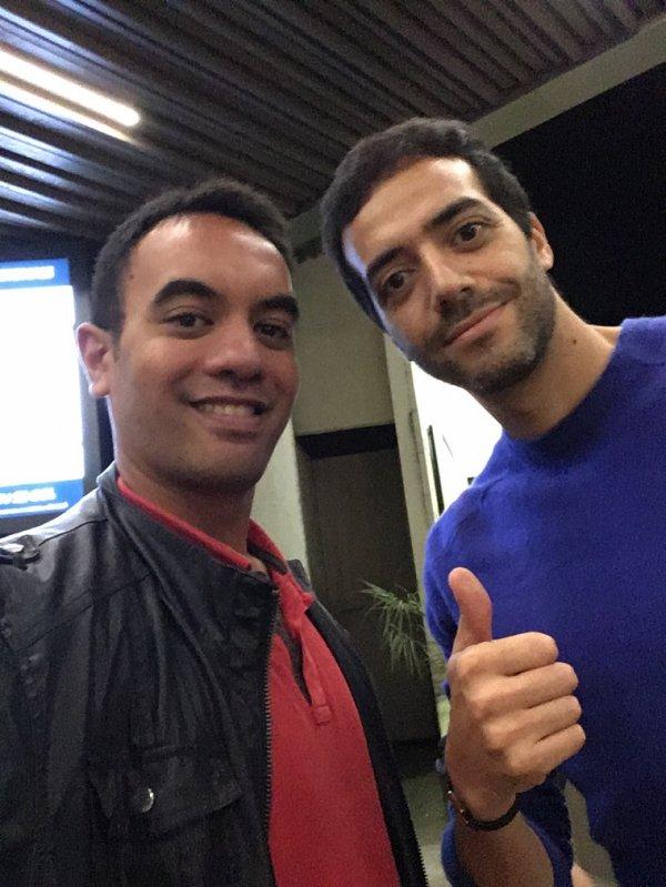 Tarek Boudali et moi