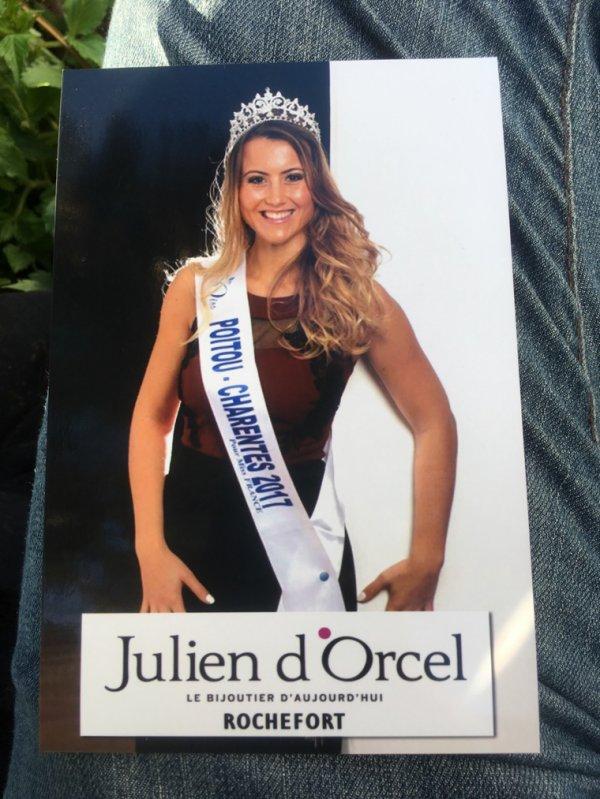 Ophélie Forgit Miss Poitou-Charentes 2017