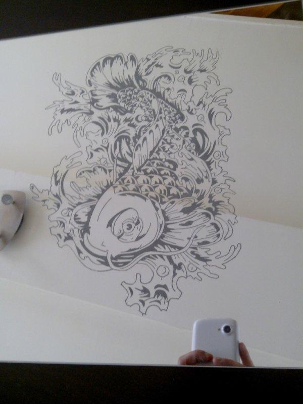 gravure sur miroir 30 x 30 cm